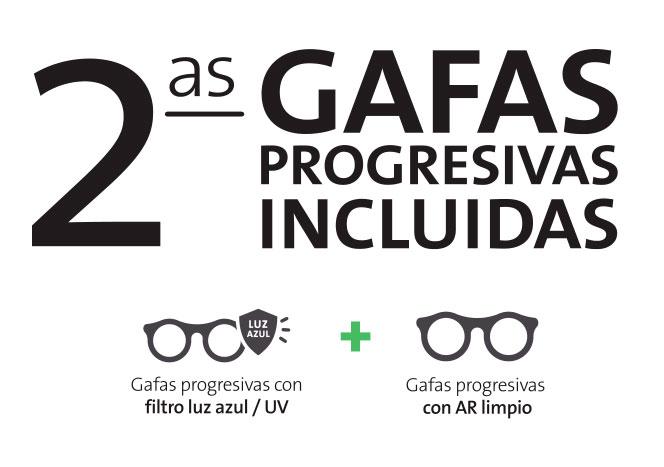 Segundas gafas progresivas incluidas