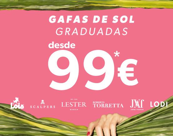 Gafas de Sol graduadas desde 89€