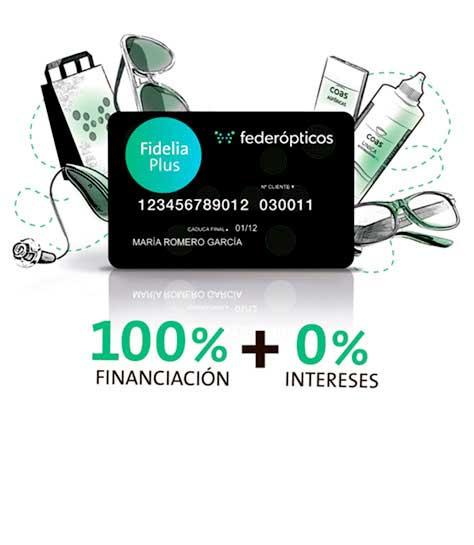 Financia tus gafas sin intereses en Federópticos